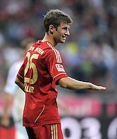FUSSBALL   1. BUNDESLIGA  SAISON 2011/2012   7. Spieltag FC Bayern Muenchen - Bayer 04 Leverkusen          24.09.2011 Thomas Mueller (FC Bayern Muenchen)