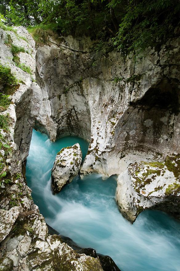 River Soca (&quot;Velika korita&quot;, &quot;Grand Canyon&quot;)<br /> Triglav National Park, Slovenia<br /> June 2009