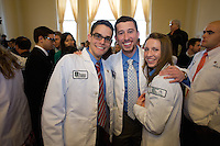 White Coat Ceremony, class of 2015. James McAvoy, from left, Ryan Hendrix, Nicole Meredith.
