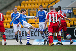 St Johnstone v Kilmarnock.....09.03.13      SPL.Murray Davidson scores the first goal.Picture by Graeme Hart..Copyright Perthshire Picture Agency.Tel: 01738 623350  Mobile: 07990 594431