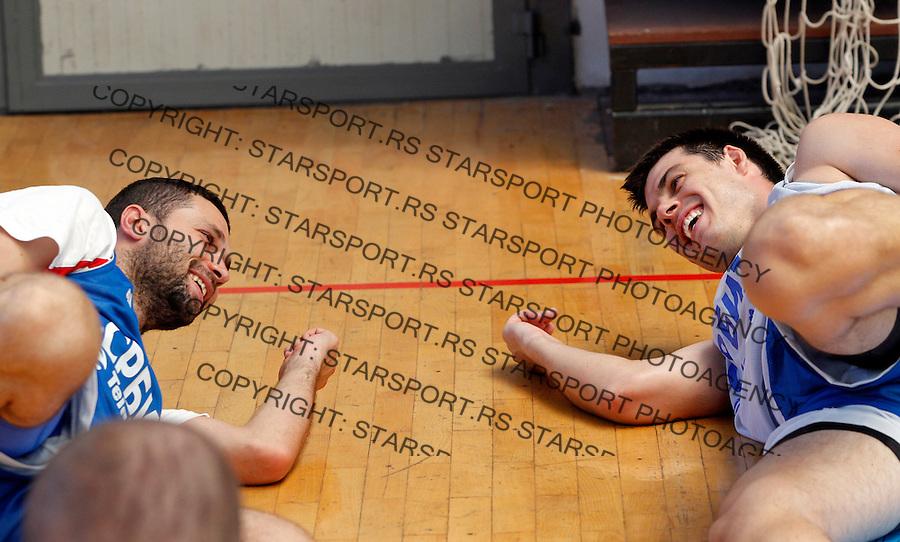 Aleksandar Rasic, Zoran Erceg, Kosarka, Basketball, Serbian national team, training, Belgrade, Serbia, Saturday, July 14, 2012. (credit: Pedja Milosavljevic/thepedja@gmail.com/+381641260959)