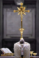 Pope Francis mass. the Solemnity of Epiphany at St Peter's basilica at the Vatican. January 6, 2014