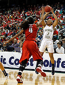 Wake Forest defeated NC State 87-61 during the semifinals of the 2012 ACC Women's Basketball Tournament at the Greensboro Coliseum in Greensboro, NC. Photo by Al Drago.