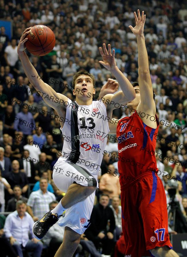 BELGRADE SERBIA 18/10/2012/ Bogdan Bogdanovic  Euroleague basketball game Partizan MTS -  CSKA Moscow (credit & photo: Pedja Milosavljevic / +381 64 1260 959 / thepedja@gmail.com)