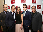 The Dear Evan Hansen creative team: writers Justin Paul and Benj Pasek, producer Stacey Mindich, writer Steven Levenson, and director Michael Greif attends The New Dramatists' 68th Annual Spring Luncheon at the Marriott Marquis on May 16, 2017 in New York City.