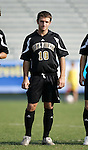 Wake's Justin Moose on Wednesday, November 9th, 2005 at SAS Stadium in Cary, North Carolina. The University of Maryland Terrapins defeated the Wake Forest University Demon Deacons 2-1 during their Atlantic Coast Conference Tournament Quarterfinal game.
