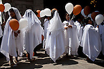Children take part in an Easter ceremony at La Catedral de Lima on Sunday, Apr. 12, 2009 in Lima, Peru.