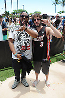 MIAMI BEACH , FL - JULY 23: Lil Dicky and Kent Jones pose during the I Heart Radio Y-100 Mackapoolooza Pool Party at The Fountainbleu on July 23, 2016 in Miami Beach, Florida. Credit: mpi04/MediaPunch