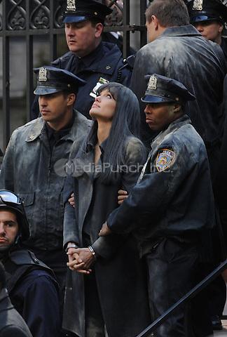 Angelina Jolie on the set of 'Salt' in New York City. March 21, 2009 Credit: Dennis Van Tine/MediaPunch