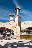Valencia, Spain, September 2013. Valencia is very friendly to cyclists, the best way to see the city is by Bicylcle. In the middle of the Spanish Mediterranean coastline lies Valencia, a beautiful city backed by mountains and plains. The city itself is boasts beautiful architecture from the historic to avant-garde. Valencia is also famed for its art galleries and fabulous local cuisine, such as juicy Valencia oranges and traditional Spanish paella, which originated from here. A good way to explore the city is by bicycle. Photo by Frits Meyst