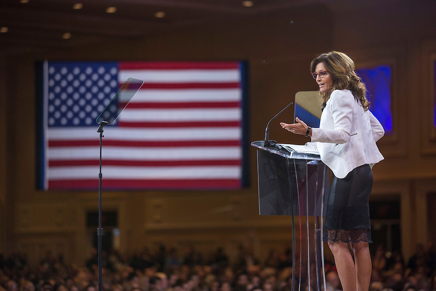 Former Governor Sarah Palin speaks at the 2015 Conservative Political Action Conference (CPAC) outside Washington, DC