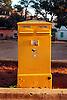 yellow postbox<br /> <br /> buz&oacute;n amarillo<br /> <br /> gelber Briefkasten<br /> <br /> Orginal: 35 mm