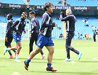 Leicester City's Shinji Okazaki during the pre-match warm-up <br /> <br /> Photographer Stephen White/CameraSport<br /> <br /> The Premier League - Manchester City v Leicester City - Saturday 13th May 2017 - Etihad Stadium - Manchester<br /> <br /> World Copyright &copy; 2017 CameraSport. All rights reserved. 43 Linden Ave. Countesthorpe. Leicester. England. LE8 5PG - Tel: +44 (0) 116 277 4147 - admin@camerasport.com - www.camerasport.com