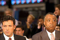 BOSTON, MA - July 29, 2004: Al Sharpton and Ben Affleck on CNN at the FleetCenter during the Democratic National Convention in Boston.