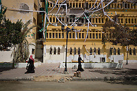 Zawiya, Libya, April 3, 2011..The main square, bearing heavy scars of the recent upraisal against Khaddafi's forces...