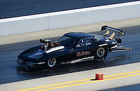 Apr. 14, 2012; Concord, NC, USA: NHRA pro mod driver Ike Maier during qualifying for the Four Wide Nationals at zMax Dragway. Mandatory Credit: Mark J. Rebilas-