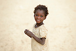 A girl in Timbuktu, a city in northern Mali which was seized by Islamist fighters in 2012 and then liberated by French and Malian soldiers in early 2013. This girl belongs to the Bella ethnic group, which has traditionally been exploited by the region's lighter-skinned groups.