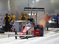 Jul 9, 2016; Joliet, IL, USA; NHRA top fuel driver Kyle Wurtzel during qualifying for the Route 66 Nationals at Route 66 Raceway. Mandatory Credit: Mark J. Rebilas-USA TODAY Sports