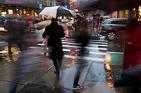 New York, NY - 30 November 2008 - Christmas shoppers on Broadway in Soho