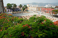 A view of the Santo Domingo Plaza from its convent. Santo Domingo convent Museum, Oaxaca City, Oaxaca, Mexico