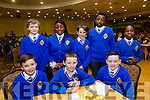 Pictured at the Tralee Credit Union Schools Quiz Brandon hotel on Sunday were Declan Lacey, Zac Boyle, Terry Molloy, Shalom Ogualiri, Rory Healy, Ted Hanly, Daniel Oyewande and Dami Etimiri from CBS Primary Tralee