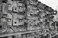 The Codz Poop or Palace of the Masks  at the Mayan ruins of Kabah, Yucatan, Mexico