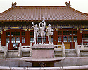 AA01222-02...CHINA - Statue in the Children's Park of Beijing.