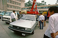 """October 1984. At the International Fair of  Guangzhou, presentation of the brand new """"Santana"""" Volkswagen model, made for Chinesse."""