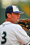 19 June 2008: Vermont Lake Monsters pitcher Pat McCoy warms up in the bullpen prior to a game against the Oneonta Tigers at historic Centennial Field in Burlington, Vermont. The Tigers defeated the Lake Monsters 13-8 in the rubber match of their three-game season opening series in Vermont...Mandatory Credit: Ed Wolfstein Photo