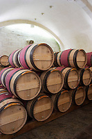 barrel aging cellar couvent des jacobins saint emilion bordeaux france