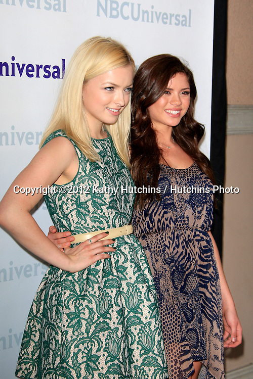 PASADENA - APR 18:  Francesca Eastwood, Morgan Eastwood arrives at the NBCUniversal Summer Press Day at The Langham Huntington Hotel on April 18, 2012 in Pasadena, CA