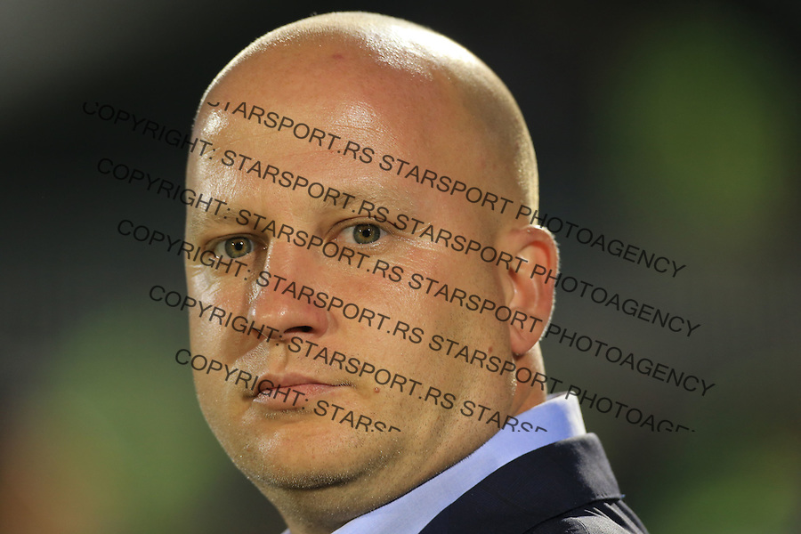 Fudbal Football Soccer<br /> UEFA Champions league-2nd qualifying round<br /> Partizan v HB Torshavn (Faroe Islands)<br /> Head coach Marko Nikolic<br /> Beograd, 07.15.2014.<br /> foto: Srdjan Stevanovic/Starsportphoto &copy;