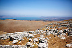 Kinneret or Sea of Galilee view from the Golan Heights
