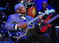 Legendary musician B B King performs at the Beau Rivage in Biloxi as part of the Mississippi Grammy Legacy Celebration Tuesday June 7,2011. The Grammys announced they are opening a museum in Cleveland Mississippi, the only other Grammy Music Museum in the Country other than in LA, CA. PHOTO©SUZI ALTMAN.COM..