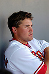 8 March 2006: Ryan Zimmerman, third baseman for the Washington Nationals, sits in the dugout during a Spring Training game against the St. Louis Cardinals. The Cardinals defeated the Nationals 7-4 in 10 innings at Space Coast Stadium, in Viera, Florida...Mandatory Photo Credit: Ed Wolfstein.