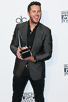 LOS ANGELES, CA, USA - NOVEMBER 23: Luke Bryan poses in the press room at the 2014 American Music Awards held at Nokia Theatre L.A. Live on November 23, 2014 in Los Angeles, California, United States. (Photo by Xavier Collin/Celebrity Monitor)