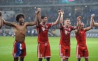 Fussball  1. Bundesliga  Saison 2013/2014   11. Spieltag  in Sinzheim TSG 1899 Hoffenheim - FC Bayern Muenchen    02.11.2013 Schlussjubel; Dante, Javi Martinez, Bastian Schweinsteiger und Franck Ribery (v.li.)