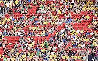FUSSBALL WM 2014  VORRUNDE    Gruppe D     Schweiz - Ecuador                      15.06.2014 Nicht alle Plaetze sind besetzt.