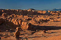 751000004 sunrise lights up the sandstone formations in goblin valley state park utah united states