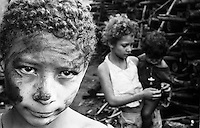 Child labor in charcoal production. Contemporary slavery, Mato Grosso do Sul State, Brazil. Several pig-iron smelters have been set up in the country to process iron for export, mainly to the European Community. These rely on charcoal production, specially from native woods, to fuel them. Adults and children alike have been working an average of 12 to 14 hours a day, at least six days a week. They usually start two hours before daybreak and never finish before dusk. A variety of health problems and diseases are associated with the job, especially because workers do not use protective gear, like masks, boots or gloves. Pneumonia ranks high among workers because of sharp variations of temperature inside and outside the brick ovens that turn wood into charcoal. Many families live in shacks made of plastic sheeting. Usually they have no access to clean water, sanitary facilities and medicines.