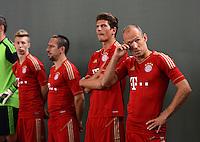 FUSSBALL     1. BUNDESLIGA     SAISON  2012/2013     30.07.2012 Fototermin beim  FC Bayern Muenchen  Mitchell Weiser, Franck Ribery, Mario Gomez, Arjen Robben  (v. li.)
