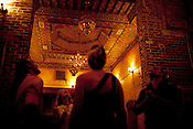 An ornate Moroccan-inspired ceiling covers the dance floor and a portion of the dinning space inside Babylon, 309 N Dawson St., Raleigh, N.C., Sat., July 30, 2011.