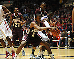 Mississippi State's Rodney Hood (4) vs. Ole Miss' Murphy Holloway (31) at the C.M. &quot;Tad&quot; Smith Coliseum in Oxford, Miss. on Wednesday, January 18, 2012. (AP Photo/Oxford Eagle, Bruce Newman).
