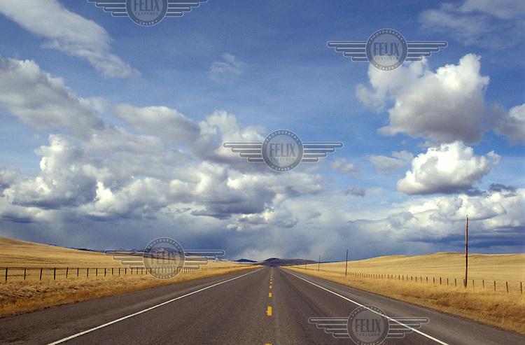 Road towards the Rockies.