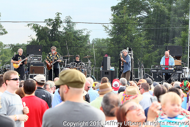 "June 4, 2011 Augusta, N.J.: The Radiators perform ""Michael Arnone's Crawfish Festival"" on Sussex County Fairgrounds on June 4, 2011 in Augusta, N.J."