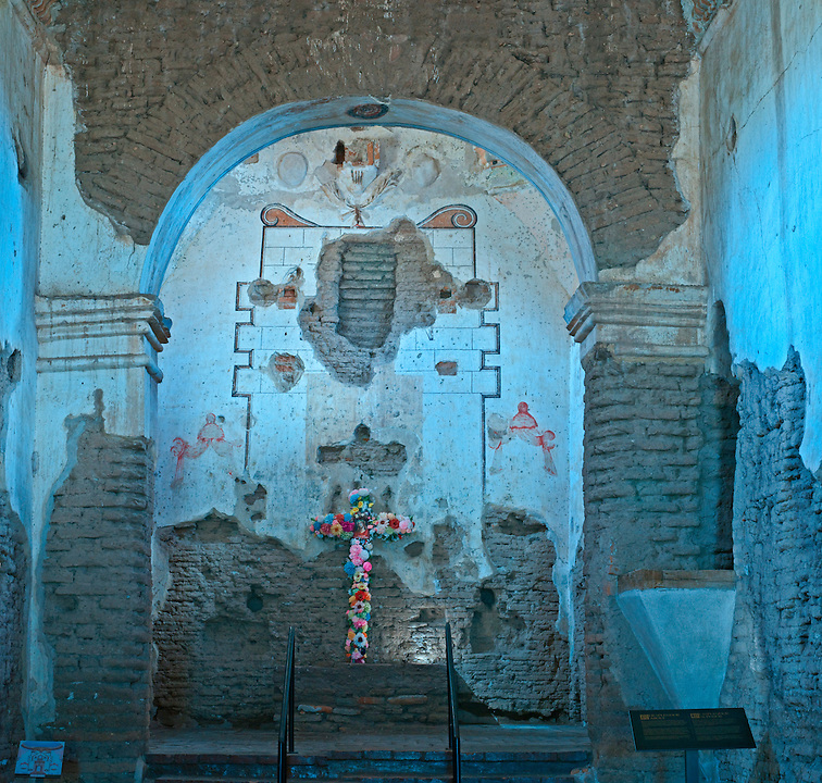 Mission San José de Tumacácori, Spanish mission, Tumacacori National Historic Park, Tumacacori, Arizona, interior