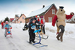 Kicksled Competition Kolkja Kelk in Tartu County, Estonia
