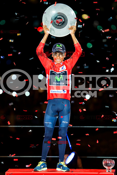 Nairo Quintana, winner of La Vuelta a España 2016 in Madrid. September 11, Spain. 2016. (ALTERPHOTOS/BorjaB.Hojas) NORTEPHOTO.COM