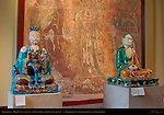 Daoist Deity, Ming Dynasty China 1488-1644, Luohan Arhat, Liao Dynasty China 907-1125, Polychrome Stoneware, British Museum, London, England, UK