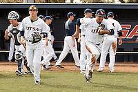 SAN ANTONIO, TX - FEBRUARY 20, 2016: The University of Texas at San Antonio Roadrunners defeat the University of Connecticut Huskies 6-5 at UTSA Roadrunner Field. (Photo by Jeff Huehn)